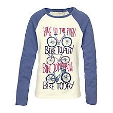 Buy Fat Face Girls' Bike To Park T-Shirt, Ecru Online at johnlewis.com