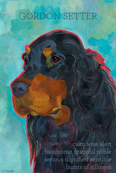 Gordon Setter No. 1  magnets coasters and art by ursuladodge