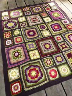 Ravelry: chitweed's Alison's Stained Glass Garden Afghan