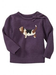 basset hound sweater from @babygap