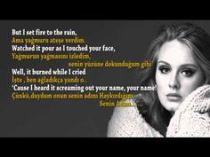 Adele - Set Fire to the Rain Lyrics Türkçe AltYazılı Sözler çok anlamlı...