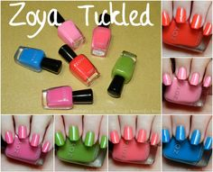Zoya Tickled Collection Summer 2014 Swatches  Review via @Stephanie Louise Telford