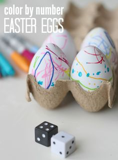What a cool way to decorate Easter eggs and have fun with math at the same time.