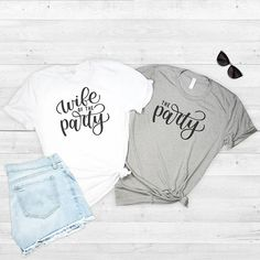 Wife of the Party Bachelorette Party Shirts Bridal Party