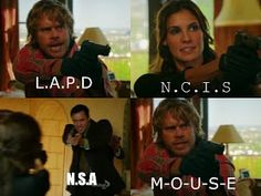 Deeks always has the best & most random comebacks LOL// I know I already pinned this, but I just love this scene.....and Deeks