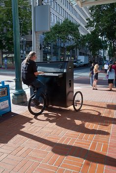 The Pianobike Kid in Downtown Portland, Oregon | Flickr - Photo Sharing!