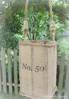 DIY knock off anthropologie jute lantern