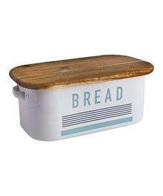 This Metal & Wood Bread Tin is perfect! #zulilyfinds Bath Trends, Bathroom Trends, Bread Tin, Wedding Gift List, Cosy Kitchen, What Is Social, Outdoor Gifts, Luxury Towels, Bread Board
