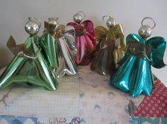 Vintage Aluminum Holiday Angels Decorations Mercury by myfancies