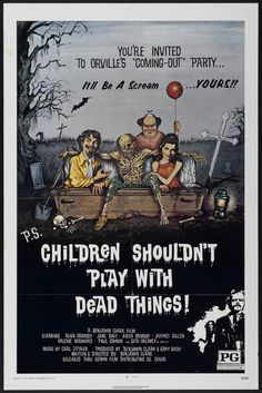 children shouldn't play with dead things movie poster - Bing Images