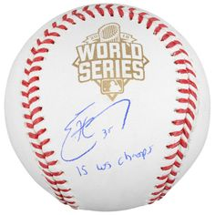 Kansas City Royals Eric Hosmer Fanatics Authentic 2015 MLB World Series Champions Autographed World Series Baseball with 15 WS Champs Inscription | MLBShop.com