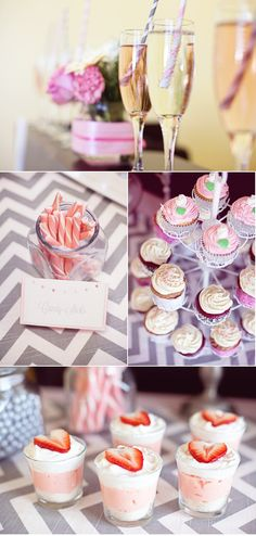 I actually really love the chevron table runner & pink tablecloth!
