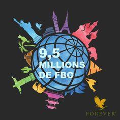 Nous sommes plus de 9,5 millions de FBO* à travers le monde ! Forever ne cesse de grandir et d'attirer de nombreux partenaires désireux d'améliorer leur qualité de vie et leur bien-être quotidien. *Forever Business Owners