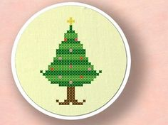 Albero di Natale II. Cross Stitch Pattern PDF
