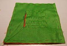 Two-layer geometric molas are the oldest type of mola art. The technique is similar to reverse applique stitching. Lets start with an e...