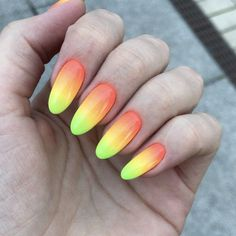 Summer fruity coloured ombre nails - The Best 12 Ombre Nail Art – French fades, unicorn and more