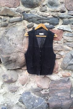 Vintage Men's Vest Black Waistcoat  Real by TinutesCreations