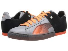 PUMA 50 50 Translucent Steel Gray Tigerlily Black - 6pm.com Puma d4f937662