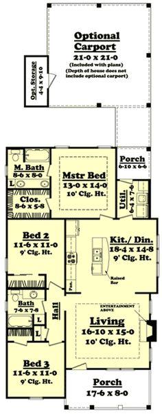 Cottage with Optional Carport - 11741HZ   1st Floor Master Suite, CAD Available, Carport, Corner Lot, Cottage, Country, Metric, Northwest, PDF   Architectural Designs