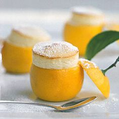 Little Lemon Souffles - use a melon baller or serrated grapefruit spoon to scoop out the pulp