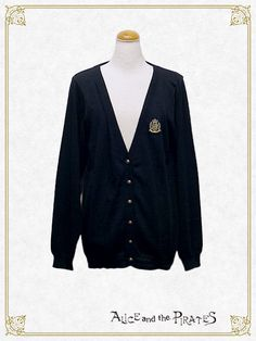 Alice and the Pirates Emblem embroidered cardigan