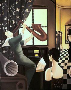 NADA ACKEL. SAXO, 1989. Huile sur toile (oil on canvas), 81x100 cm.