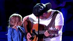 8.16.12 ~ Dierks (1) singing Thinking Of You, featuring his daughter Evi...