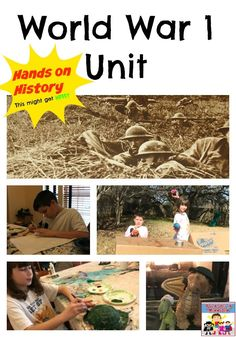 World War 1 unit hands on history Travel back in time and experience World with this World War 1 unit. World History Teaching, World History Lessons, History Projects, Us History, Ancient History, British History, Native American History, American Civil War, Mystery Of History