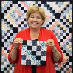 This Double Square Star Quilt Is A Great Charm Pack Project! | Star quilts Charm pack and Squares