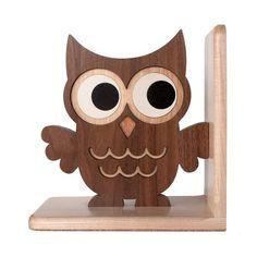 Buho madera sujetalibros: Reliquia niños madera sujetalibros