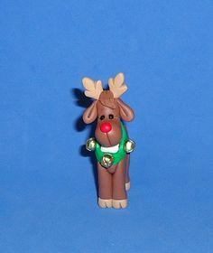 Polymer Clay Rudolph Reindeer. $10.00, via Etsy.