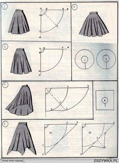 wykroje asymetrycznej spódnicy - Szukaj w Google
