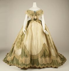 Dress (detail) with Changeable Bodice, ca. 1865 Marguerite Robes, Paris... via The Met
