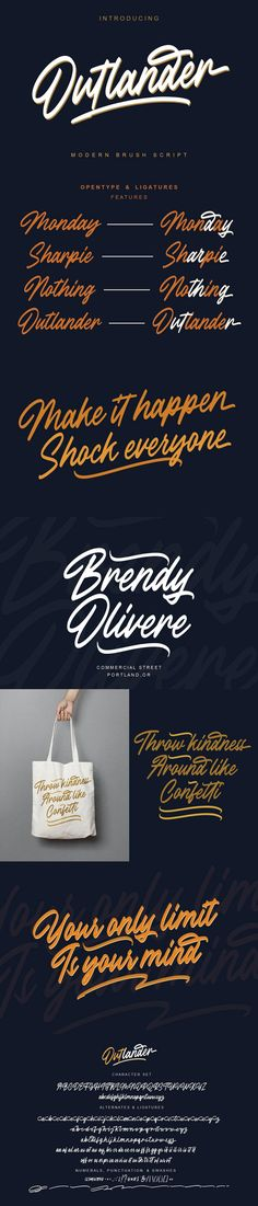 FREE Font: Outlander Brush Script #logo #freebie #italic #graphic #FreeGraphic #poster #FreeDesign #brush #behance #badge #free #modern #free #design #script #font #GraphicDesign #title