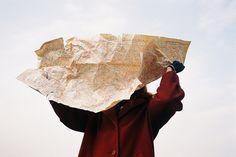 Map, windy, travel, somewhere, destination, escape, sky, foreign lands