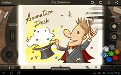 Animation Desk - Sketch & Draw Animation Desk for Android is an app for creating short, animated videos. In each scene you can include as little or as much as you want to draw on the canvas. The opacity of the colors you choose can be altered too. When you have completed drawing all of your scenes hit the play button to watch your animation unfold. If you're happy with your animation you can export it to YouTube.