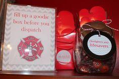 Harris Sisters GirlTalk: Firefighter - Fire Truck - Fireman Birthday Party Goodie Station