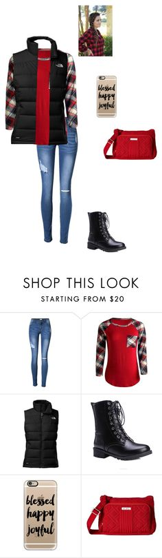 """""""Decorating for Christmas"""" by modest-flute ❤ liked on Polyvore featuring The North Face, Casetify and Vera Bradley"""