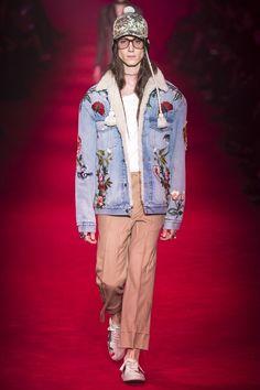 #autumn_winter2016 #menswear #milan #Gucci #DenimJacket #FlowerDenim