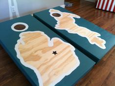 "Custom Hand Painted ""CornHole"" Board Sets - Only 130 w/bags"