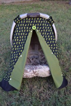 Soldier Carseat Canopy Cover Army Men Toy by LilacsAndLeopards