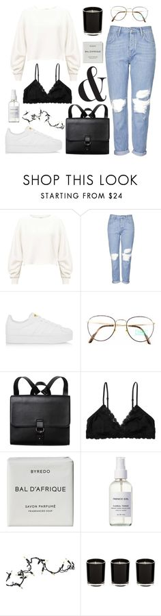 """rêveries"" by youvegotraye ❤ liked on Polyvore featuring Miss Selfridge, Topshop, adidas Originals, Benetton, Monki, Byredo, French Girl and Kurt Adler"