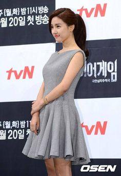 [25/10/2016 ©BM] Kim So Eun Elegant Grey Dress
