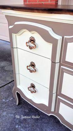 old dresser makeover, painted furniture