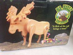 Mr. Moose Wooden Candy Dispenser