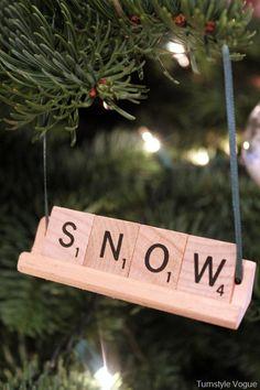 Scrabble Letter Ornament DIY