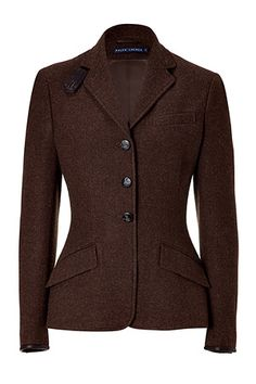 d74f794f12da Ralph Lauren Hawthorn brown tweed riding jacket at a stupid  620. I could  have it