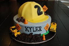 A Little Something Sweet - Custom Cakes: Hard Hat Required {Construction Cake} Construction Birthday Parties, Construction Party, Boy Birthday Parties, Birthday Ideas, 3rd Birthday, Birthday Cakes, Hat Cake, Cakes For Boys, Boy Cakes