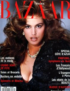 Cindy Crawford - Harper's Bazaar France, Dec 1987 by Marco Glaviano Cindy Crowford, Cindy Crawford Photo, Françoise Sagan, Original Supermodels, 1990s Supermodels, Fashion Cover, 1987 Fashion, High Fashion, 90s Models