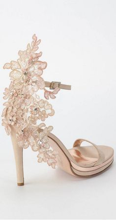 {Wedding Heels with Lace and Drama}